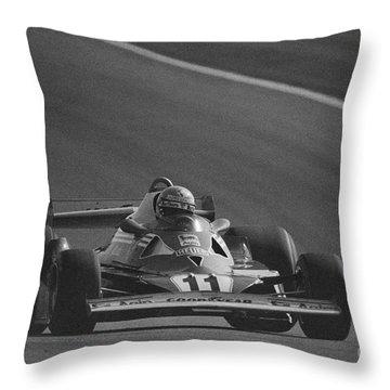 Niki Lauda. 1977 French Grand Prix Throw Pillow