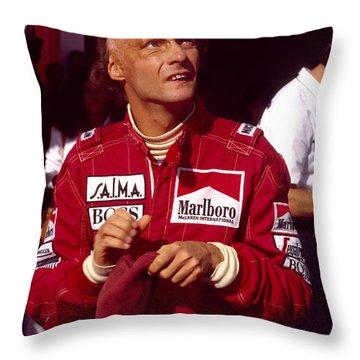 Niki Lauda. Marlboro Mclaren International Throw Pillow