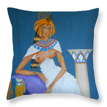 Nile Nymph -- Cleopatra, #1 In Famous Flirts Series Throw Pillow
