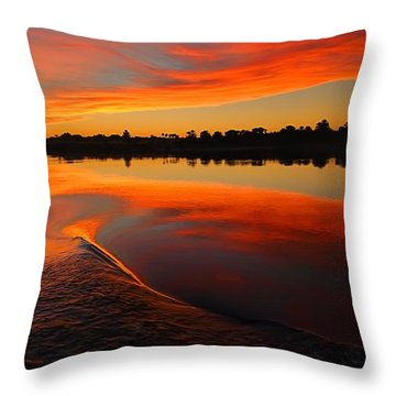 Nile Sunset Throw Pillow