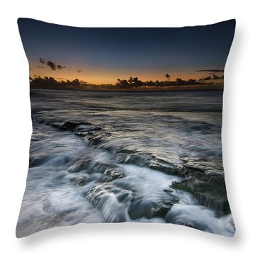 Nimitz Beach Sunrise Throw Pillow