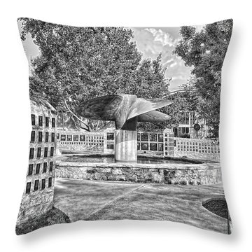 Nimitz Prop Fountain Throw Pillow