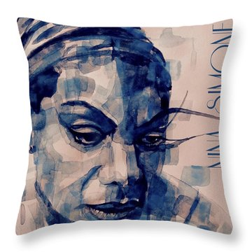 Nina Simone Throw Pillows