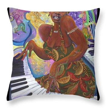 Nina Simone Throw Pillow