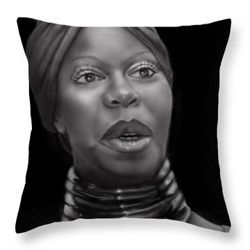 Nina Simone-revolution Throw Pillow