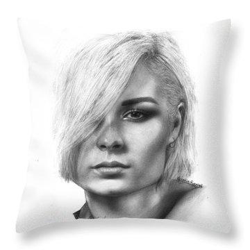 Nina Nesbitt Drawing By Sofia Furniel Throw Pillow