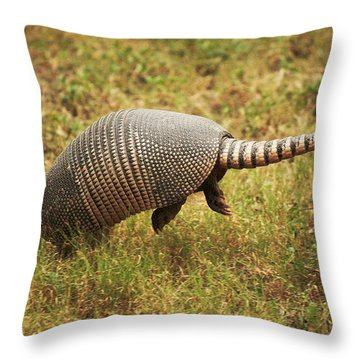 Nine-banded Armadillo Jumping Throw Pillow