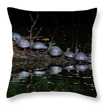 Nine In A Row Throw Pillow