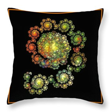 Nine Ladies Dancing  Throw Pillow