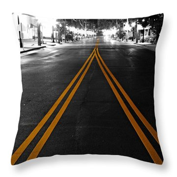 Nine Mile Throw Pillow by Tim Wilson