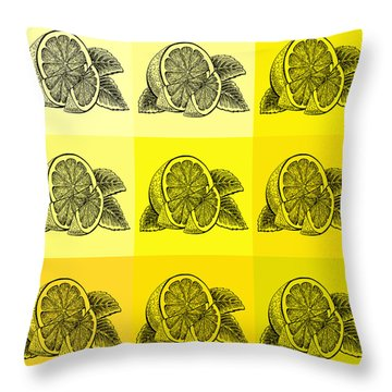 Nine Shades Of Lemon Throw Pillow