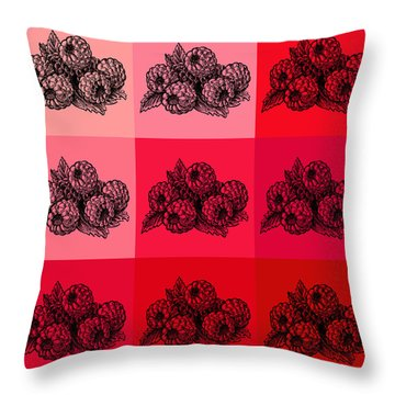 Nine Shades Of Raspberries Throw Pillow