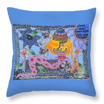 Nirvana Equals Absolute Happiness Throw Pillow