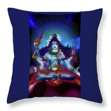 Nirvikalp Samadhi Kapali Shiva Throw Pillow