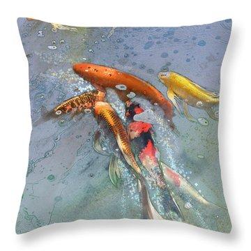 Nishikigoi Throw Pillow