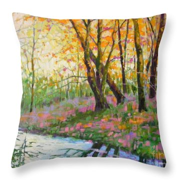 Nisqually Morning Throw Pillow