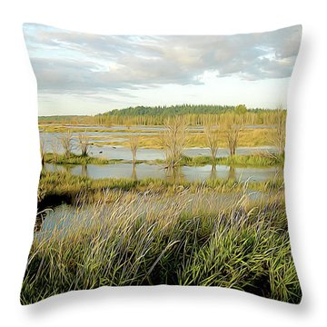 Nisqually Tide Coming In Throw Pillow