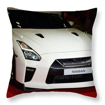 Nissan Gtr Throw Pillow
