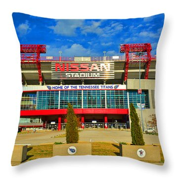 Nissan Stadium Home Of The Tennessee Titans Throw Pillow