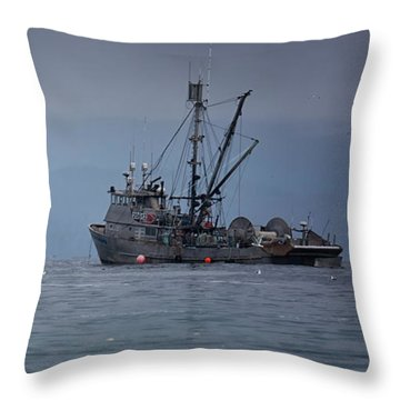 Throw Pillow featuring the photograph Nita Dawn And Cape George by Randy Hall