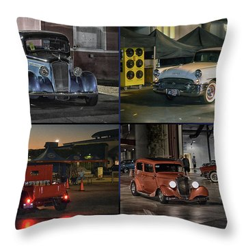 Nite Shots At Cure Throw Pillow