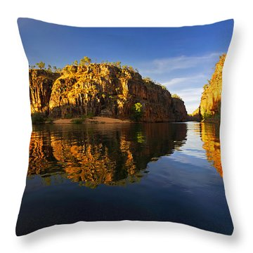 Nitimiluk Throw Pillow by Bill Robinson
