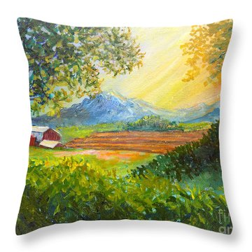 Nixon's Majestic Farm View Throw Pillow