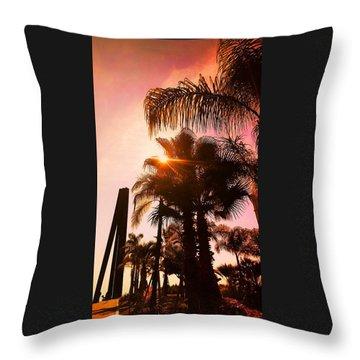 Promenade Des Anglais, Nice-nizza, France Throw Pillow