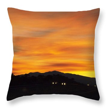 Nm Sunrise Throw Pillow