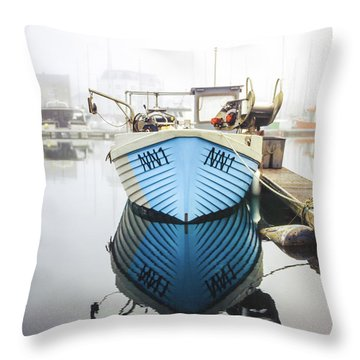 Throw Pillow featuring the photograph Nn1 Fishing Boat Sovereign Harbour, Eastbourne. by Will Gudgeon