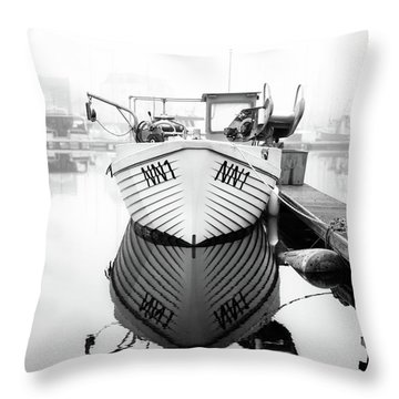 Throw Pillow featuring the photograph Nn1 Fishing Boat by Will Gudgeon