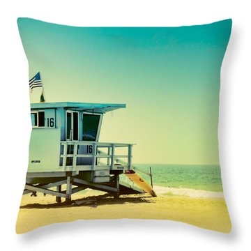 No 16 - Wish You Were Here Throw Pillow