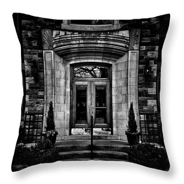 Throw Pillow featuring the photograph No 2 Glen Elm Avenue Toronto Canada by Brian Carson