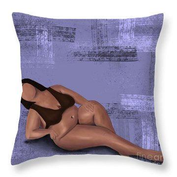 Throw Pillow featuring the digital art No Angel by Bria Elyce