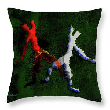 No  Throw Pillow by Asok Mukhopadhyay