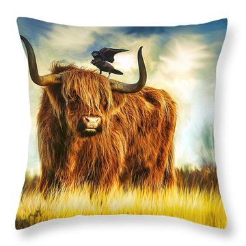 No Crow About It Throw Pillow
