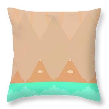 No Curves Ahead Throw Pillow