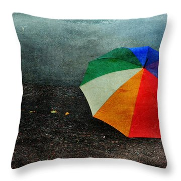 No Day For A Tan Throw Pillow by Randi Grace Nilsberg