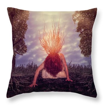 No Earthly Roots Throw Pillow