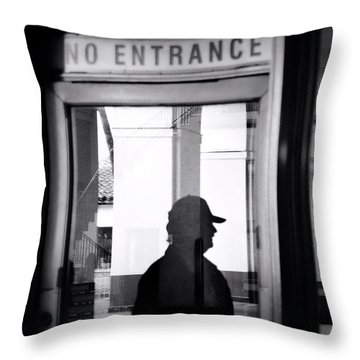 No Entrance Throw Pillow