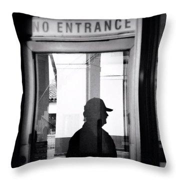 No Entrance Throw Pillow
