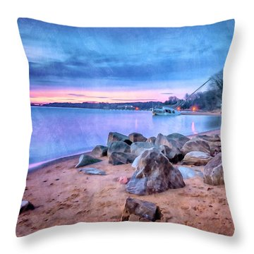 Throw Pillow featuring the photograph No Escape by Edward Kreis