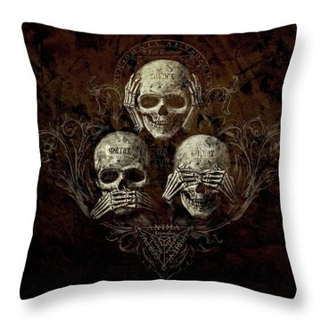 See No Evil Throw Pillows
