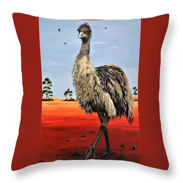 No Flies On Me Throw Pillow