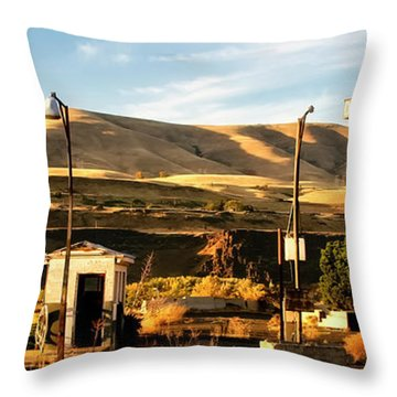 Throw Pillow featuring the photograph No Gas... by Albert Seger