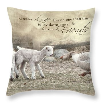Throw Pillow featuring the photograph No Greater Love by Robin-Lee Vieira
