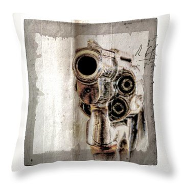 No Guns Allowed Throw Pillow