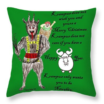 No Happy Gnu Year Throw Pillow