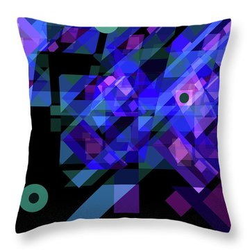 No Illusions Throw Pillow by Lynda Lehmann