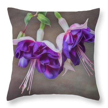 Purple Fuchsia Throw Pillow